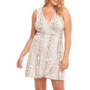 Nordstrom plus size (2X) snakeskin dress
